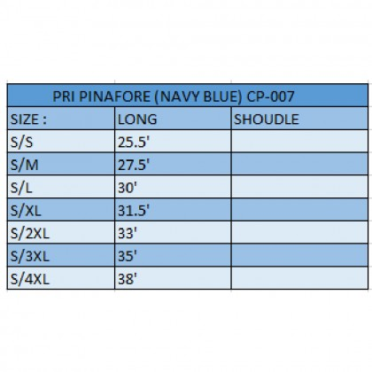 PRIMARY PINAFORCE S SIZE